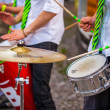 Drumming combo — Stock Photo