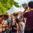 Festival guests — Stock Photo