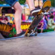 Man skates on a skateboard — Stock Photo