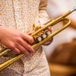 Musician with trumpet — Stock Photo
