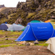 Tent on a camping site on Iceland — Stock Photo