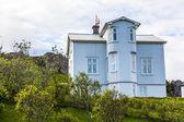 Decorated house in Djupivogur on Iceland — Stock Photo