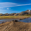 Camping site at Landmannalaugar, Iceland — Stock Photo