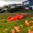 Art project for National Day in Djupivogur, Iceland — Stock Photo #32352157