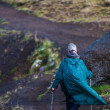 Woman hiking on Iceland — Stock Photo