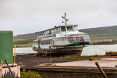 Vecchia barca in un lago sull'islanda — Foto Stock