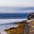 House at a bay on Iceland — Stock Photo