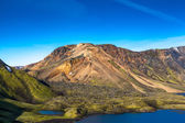 Mountain face in Landmannalaugar — Stock Photo