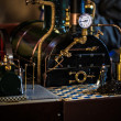 Model steam engine — Stock Photo