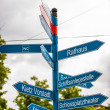 Signpost in Berlin — Stock Photo