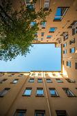 Backyard in Berlin — Stock Photo
