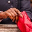 Red gloves — Stockfoto