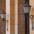 Two street lanterns — Stock Photo