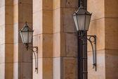 Two street lanterns — Stock Photo