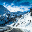 snowy mountains — Stock Photo