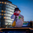 Inflatable snowman — Stock Photo