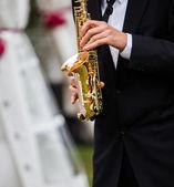 Saxofon — Stock fotografie