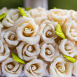 Marzipan roses — Stock Photo