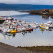 Stock Photo: Boats anchored at harbor on Iceland