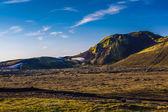 Rough landscape near Landmannalaugar (Iceland) — Stock Photo