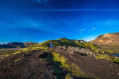 Rough landscape near Landmannalaugar (Iceland) — Stock Photo