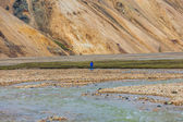 Man standing in a valley on Iceland — Stock Photo