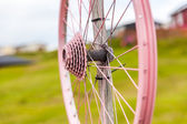 Old bicycle wheel — 图库照片