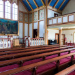Interior shot of Husavik Church, Iceland — Stock Photo #39188781