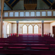 Stock Photo: Interior shot of Husavik Church, Iceland