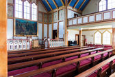 Interior shot of Husavik Church, Iceland — Foto Stock