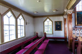 Interior shot of Husavik Church, Iceland — Stock Photo