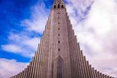 Iglesia hallgrímskirkja en reykjavik — Foto de Stock