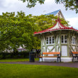 Stock Photo: Quaint wooden gazebo in park in Iceland