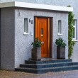 Neat entrance doorway with steps and pot plants — Stock Photo #39205611