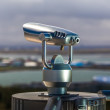 Stock Photo: Tourist telescope on viewing platform