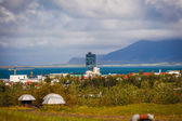 Coastal town in Iceland — Stock Photo