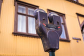 Dual parking meter in Iceland — Stockfoto