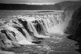 Gullfoss waterfall flowing into a gorge in Iceland — Stock Photo