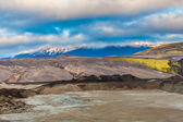 Glaciated lowland Icelandic landscape — Stock Photo