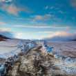 Stock Photo: Glacier moving over lowlands in Iceland