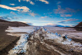 Glacier moving over the lowlands in Iceland — Stock Photo