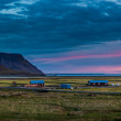 Farm buildings at sunset in Iceland — Stock Photo #39242309