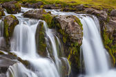 Time exposure of waterfall Kirkjufellsfoss in Iceland — Stock Photo