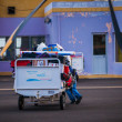 Luggage transporter on Cape Verde — Stock Photo