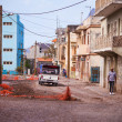Stock Photo: Run down street on Cape Verde