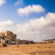 Stock Photo: Desert landscape on Cape Verde
