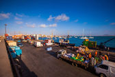Cargo in a harbor on Cape Verde — Stockfoto