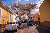 Narrow road on Cape Verde — Stock Photo