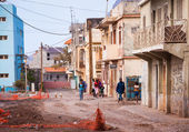 Run down street on Cape Verde — Stock Photo