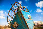 Wrecked boats in Boa Vista - Cape Verde — Stock Photo